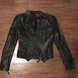 Blank NYC faux leather Moto jacket size small